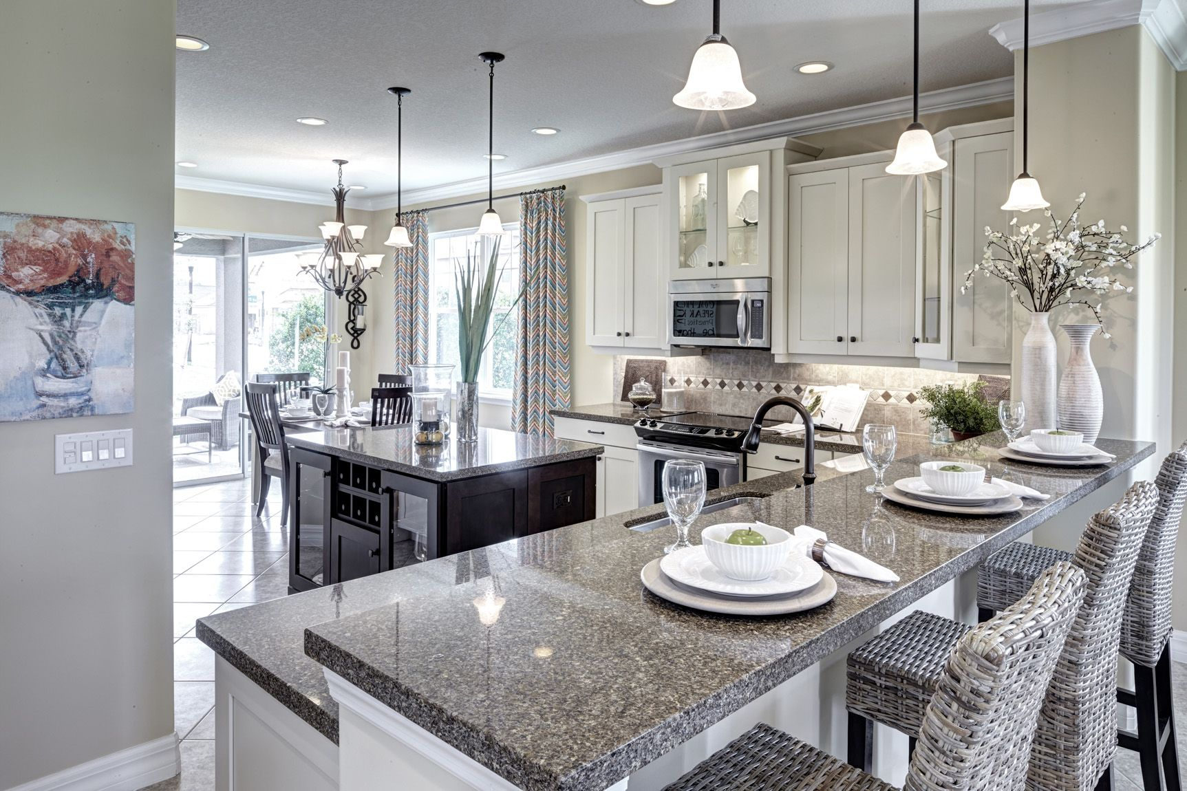 Elegant lighting makes for an elegant kitchen. Our exquisite